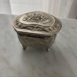 Anthropologie Storage & Organization - 100% Love metal heart trinket jewelry box